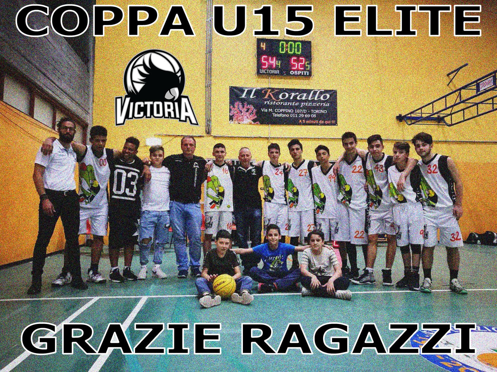 U15 ELITE: Victoria, la Coppa e' tua !!!