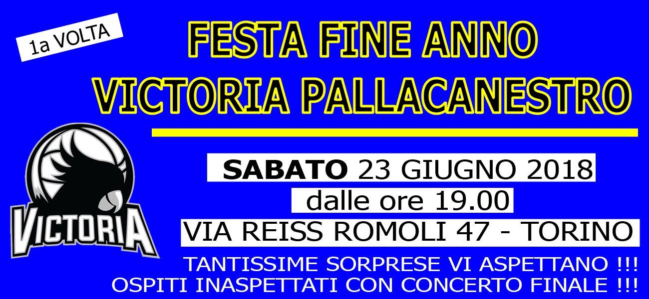 FESTA DI FINE ANNO VICTORIA PALLACANESTRO